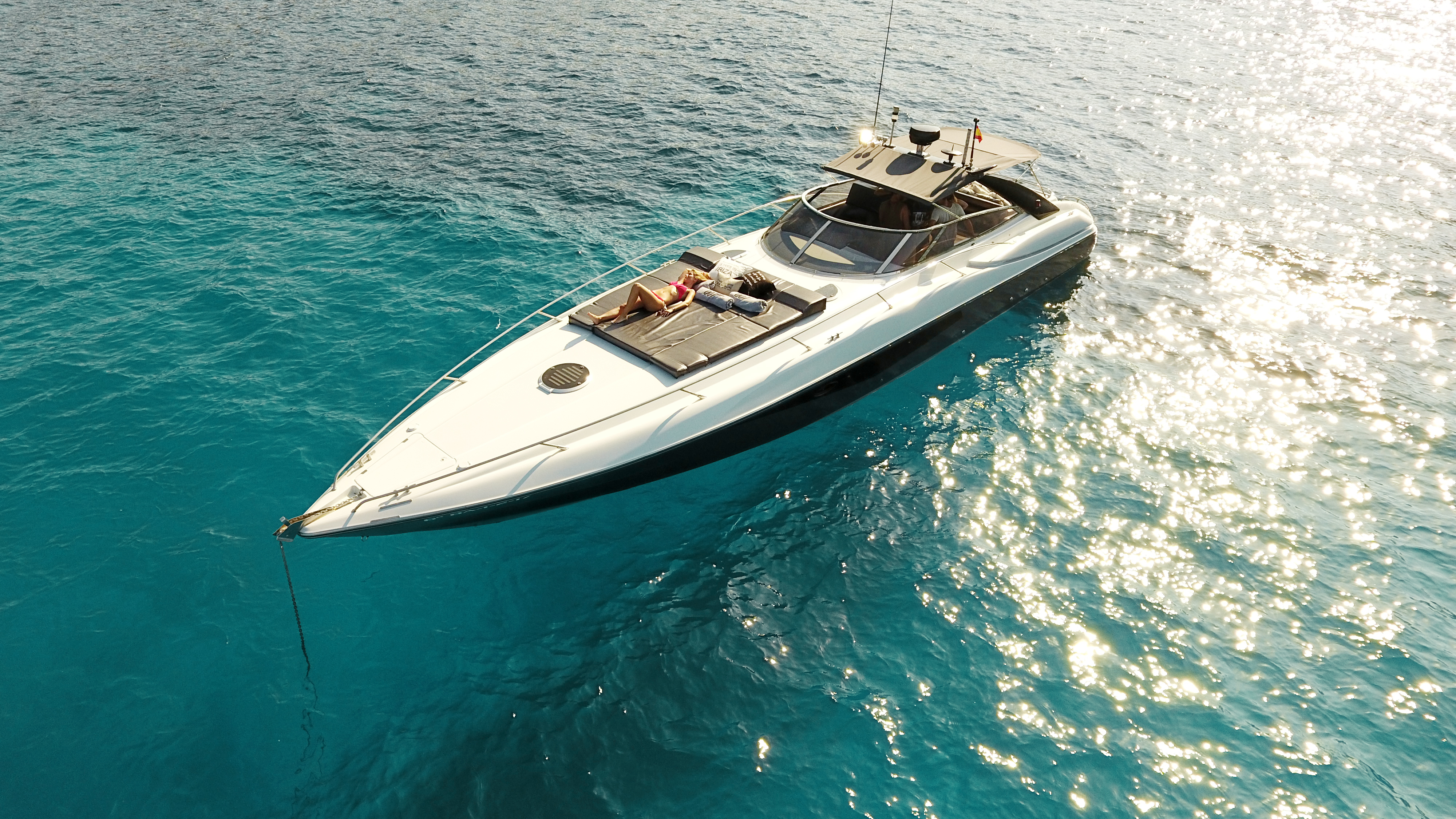 007 Sunseeker Superhawk 48  Day charter in Marina Ibiza  Luxury yacht