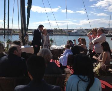 Alquiler de espacio para bodas en barco en Barcelona