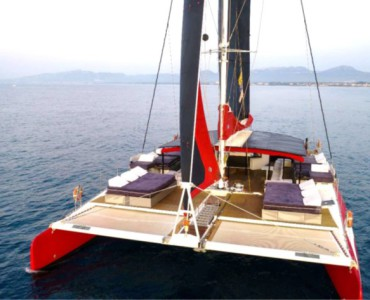 Luxury sailing catamaran events Barcelona Sitges